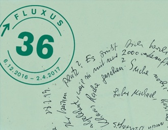 fluxus 36 »Unverhofftes Wiedersehen. Karten lesen« December 6th 2016 to April 2nd 2017